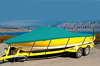 CRV-SBU 7 oz Solution Dyed Polyester Material Custom Exact FIT Boat Cover Key WEST 196 Bay Reef W/T-TOP 2004-2009