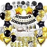 Bea's Party Decoracion cumpleaños Adultos Globos Dorados Feliz cumpleaños Decoracion...