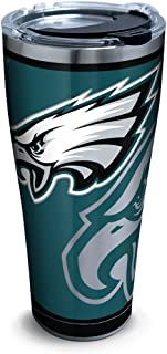 Tervis Nfl Philadelphia Eagles Rush Stainless Steel Tumbler With Lid, 30 oz, Silver