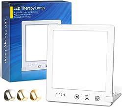SAD Lamp,OxyLED 10000 Lux SAD Lichttherapielamp met 3 Kleurtemperaturen en Vloeiend Dimmen,3000K-6500K,Aanraakbediening,Ti...