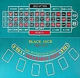 カジノレイアウト ルーレット&ブラックジャック リバーシブル 120cm×60cm Mサイズ