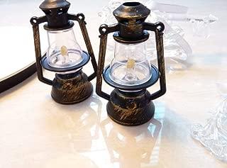 BAOCH Mini Lanterns Retro Plastic Decoration Santa Claus Accessories Lantern Xmas Tree Hanging Props Home Fireplace Decor for Kids Chistmas Gift,Horse Light Props, Set of 8
