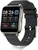 ساعت مچی Doubc ، 1.69 اینچی HD Full Touch Screen Fitness Watch Tracker ورزشی با ضربان قلب ، خواب ، کرونومتر ، ساعت دویدن گام شمار ، ساعت هوشمند IP68 ضد آب برای مردان زنانه