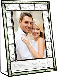 J Devlin Pic 389-46V EP545 Engraved Glass Picture Frame Personalized Wedding Engagement 4 x 6 Vertical Photo