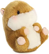 Aurora World Frolic Hamster Rolly Pets Plush Toy (Brown/White/Pink)