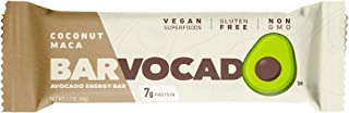 Barvocado – Avocado Energy Bars – Coconut Maca Avocado Vegan Protein Bar 12 Pack - Gluten Free, Non GMO, 7g...