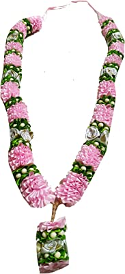 Salvus APP SOLUTIONS Attractive Pink Green Garland with Artificial Flowers 3 ft 1 Pc
