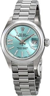 Rolex Lady-Datejust Ice Blue Diamond Dial Ladies Platinum President Watch 279166IBLRDP