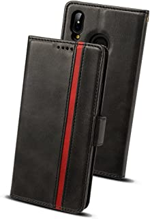 Huawei P20 Lite ケース 手帳型 ファーウェイp20ライト - Rssviss サイドマグネット カード収納 横置き機能 ストラップ通し穴 高級PUレザー p20ライト ケース 財布型 (Huawei P20 Liteに対応) W5 ブラック