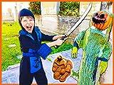 Ninja Attacks Creepy Halloween Pumpkin Found Top Secret Clues Hidden Inside