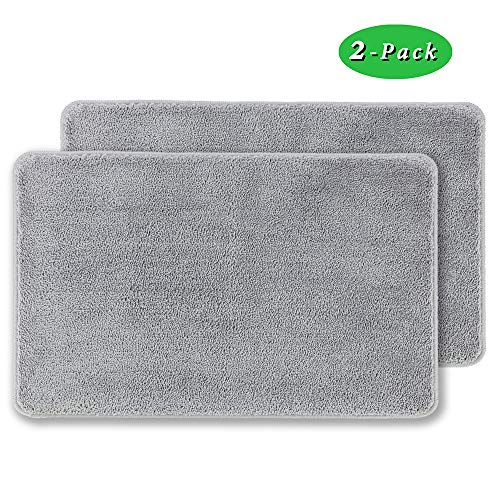 "2 Pack Indoor Doormat Front Door Mat Non Slip Rubber Backing Super Absorbent Mud and Snow Magic Dirts Trapper Mats Entrance Door Rug Shoes Mat Machine Washable Carpet - 20"" x 31.5"""