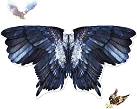 Kids Bird Wings Eagle Costumes for Boys Girls Animal Fancy Dress-Up Feathered Cosplay Party Favors