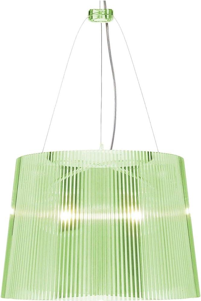 Kartell ge lampadario, colore verde trasparente vetro 9080P8