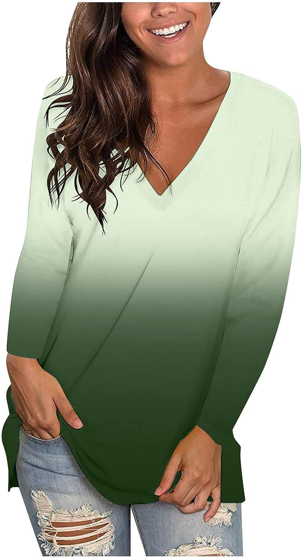 Long Sleeve Tops for Women,Womens Plus Size Long Sleeve Sweatshirt Round Neck Fashine Tie Dye Print Pullover Shirts