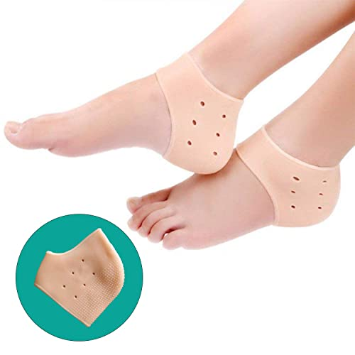 98f5134c90b Healthgenie Silicone Gel Heel Pad Socks with Aloevera Fragrance for Pain  Relief