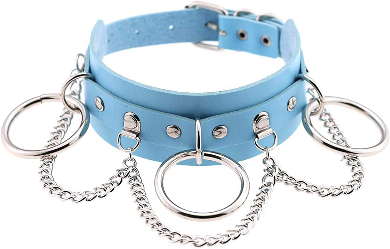 MVIP Women Girls Leather Choker Collar Necklace Vintage Gothic Punk Rock Necklace Body Piercing Jewelry