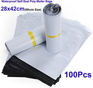28x42cm 100x Waterproof Poly Mailers Christmas Gifts Envelope Mailer Bags Self Adhesive Mail Express Packing Bag