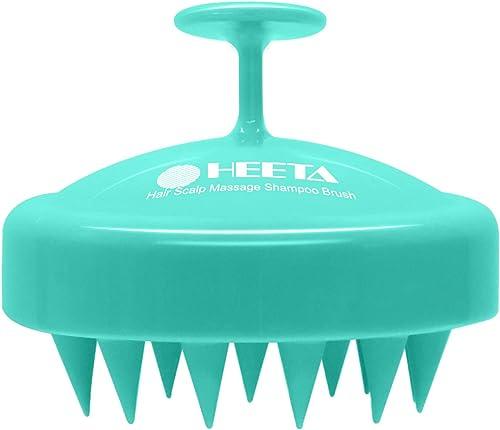Hair Shampoo Brush, Heeta Scalp Care Brush with Soft Silicone Head Massager for Women, Men, Pets (Green)