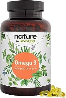 Premium Omega 3 Visolie Capsules - 3-voudige sterkte: 500mg EPA en 250mg DHA PRO-capsule - Essentiële Omega 3-vetzuren uit...