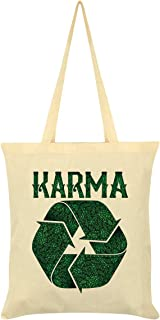 Recycling Karma Tote Bag Cream 38x42cm