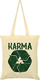 Recycling Karma Tote Bag Cream 38x42cm