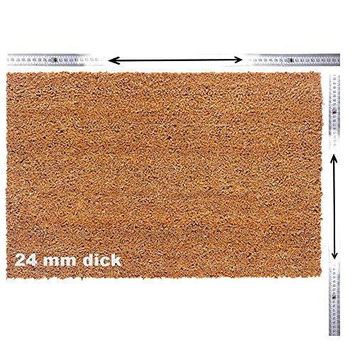 Kokosmatte nach Maß | Kokos Fußmatte mit Zuschnitt auf Maß | Stärke: 24 mm, Breite: bis 120 cm, Länge: bis 300 cm | ab 18,85 € (78,55 €/m²) | ausgewählt: 40-60 cm breit, 60-100 cm lang
