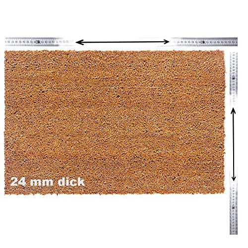 Kokosmatte nach Maß | Kokos Fußmatte mit Zuschnitt auf Maß | Stärke: 24mm, Breite: 40-120 cm, Länge: 60-300 cm | ab 47,13 € (78,55 €/m²) | ausgewählt: 40-60 cm breit, 60-100 cm lang