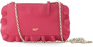 Red Valentino Women's RQ0P0A52MENFE7 Red Leather Clutch
