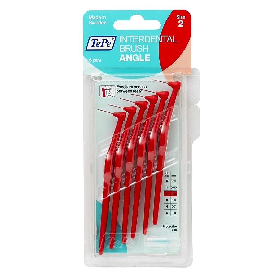 植生星オプショナルTePe Angle - Interdental Brush - Red - 0.02 - Size 2 + Grip + 0.68fl oz Merido Sample by TePe