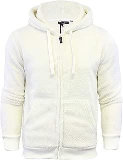 Brave Soul Mens Shaun Sherpa Fleece Zip Up Long Sleeve Sweatshirt Jacket