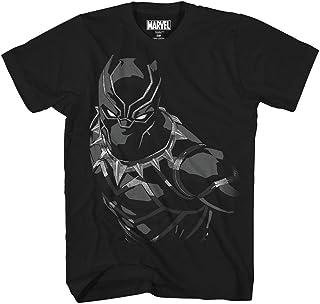 Mad Engine Marvel Black Panther Boys' Panther Creep Tee, Black