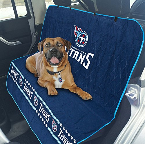 NFL CAR SEAT COVER - TENNESEE TITANS Waterproof, Non-slip BEST Football LICENSED PET SEAT cover for DOGS & CATS.