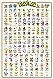 Pokemon - Kanto 151 - Anime Spiel Poster - Größe 61x91,5