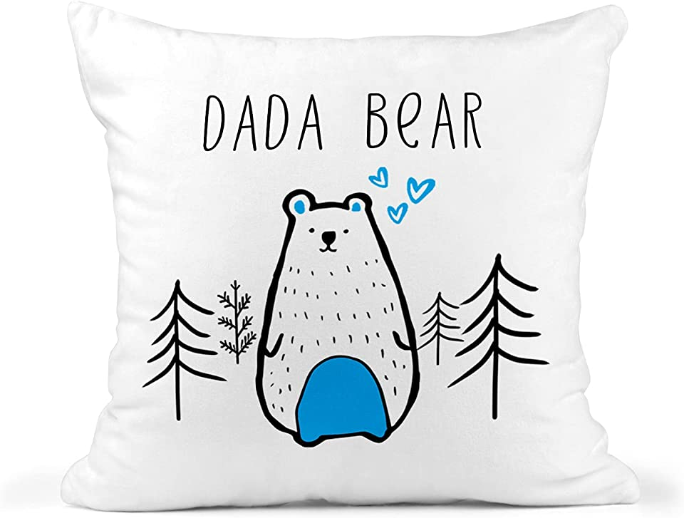 Daddy Cushion, Dada Bear Cushion, New Dad Gift, Fathers Day Gift, Dad Birthday Mug, Best Dad Mug, Funny Novelty Present Mug, Baby Shower Gift, Pillow