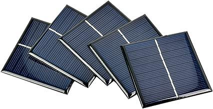 AOSHIKE 5Pcs Mini Solar Panels Polycrystalline Solar Cells 70x70MM 4V 140MA DIY Solar Painel (D)