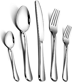 AckMond 20-Piece Stainless-Steel Cutlery Set Flatware Set Tableware Dinnerware Knife Fork Spoon, Service for 4
