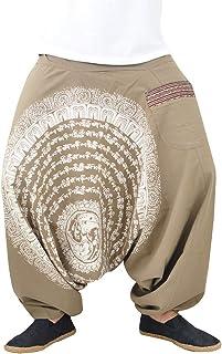 df86eca5725 virblatt Pantalones Bombacho Mujer Yoga cagados como pantalón Chandal árabe  - Nirvana