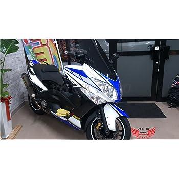 pour TMAX 530 12 13 14 TMAX530 2012 2013 2014 Agrafes de fixation pour vis alu Vert Argent LoveMoto Jeux de visserie complets pour car/énages moto