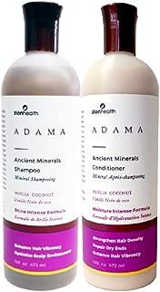 Adama Minerals Shampoo and Conditioner Set 16 oz (Vanilla Coconut)