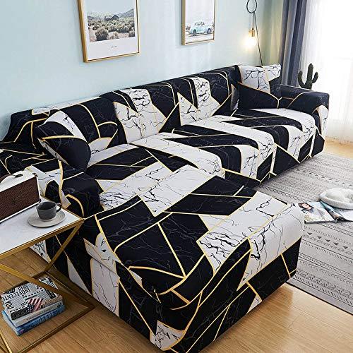 Fundas de sofá de Esquina en Forma de L para Sala de Estar, Fundas de sofá, sofá seccional elástico elástico, sofá Cubre A10, 1 Plaza