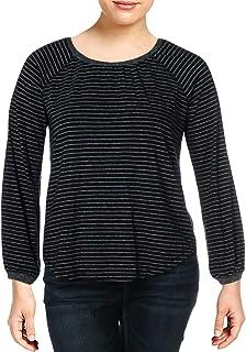 Lucky Brand womens BALLOON SLEEVE STRIPE TOP Shirt