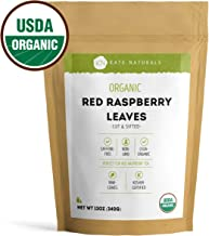 Organic Red Raspberry Leaf Tea - Kate Naturals. Cut and Sifted. Perfect for Tea. Non-GMO. Large Resealable Bag. 1-Year Guarantee (12oz).