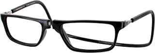Clic Executive Single Vision Full Frame Designer Reading Glasses, Black, +1.75