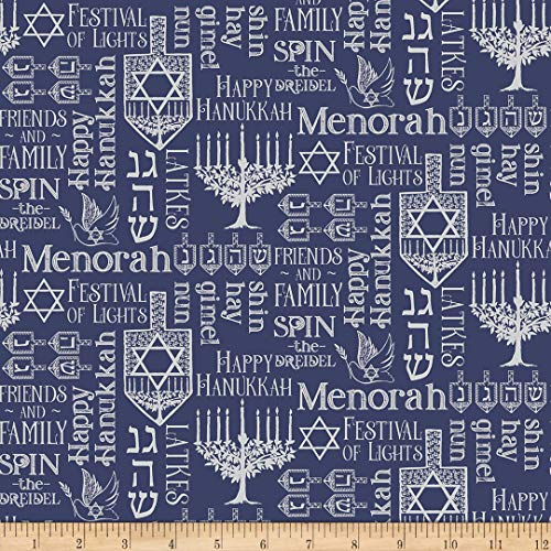 Riley Blake Designs Festival Of Lights Symbols Silver Quilt Fabric By The Yard