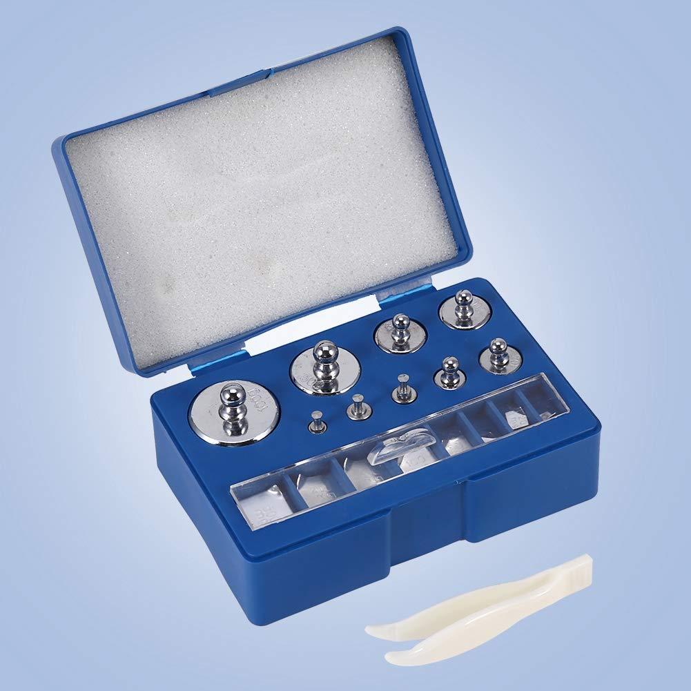 Pesas de calibración para báscula digital, material de acero n.o 45, fácil de usar, contrapeso de mayor resistencia con pinzas para laboratorio general