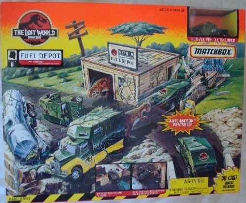 The Lost World Jurassic Park Matchbox Site B Fuel Depot Vintage 1996 Playset by Jurassic Park The Lost World