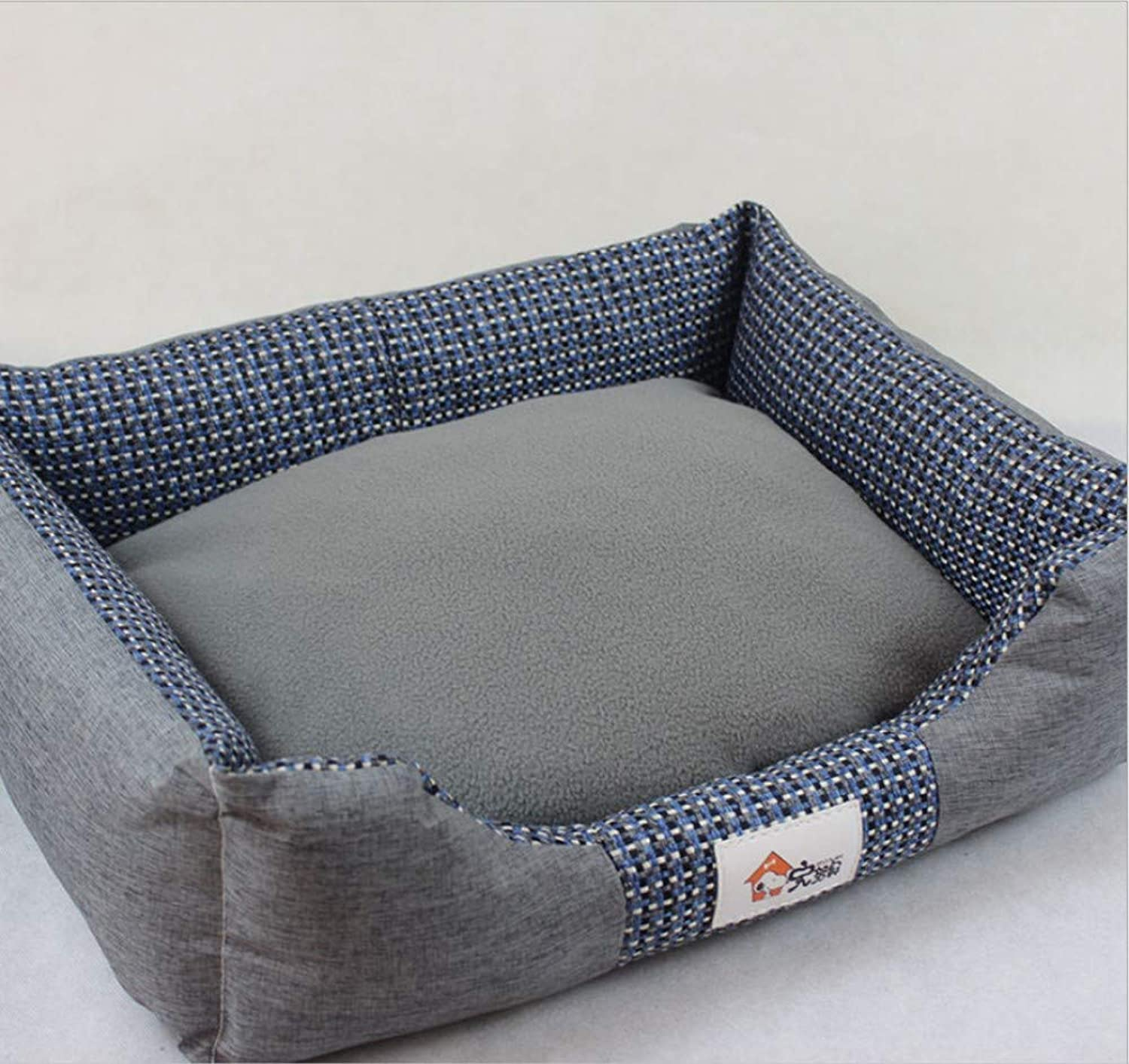 Canvas Kennel Pet Wo Teddy golden Retriever Large Dog Mat Creative Square Detachable Dog Bed