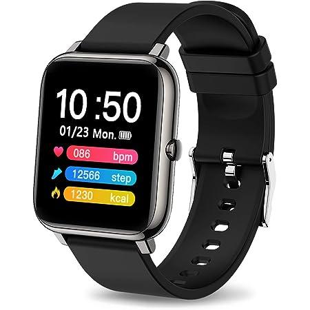 iporachx Smartwatch, Orologio Fitness Uomo Donna, Smart Watch Cardiofrequenzimetro da Polso Contapassi Sportivo Activity Tracker, 1.4 Pollici Touch Screen Completo, Controller Fotocamera Musical