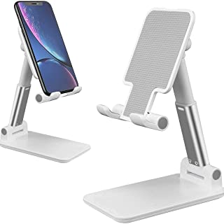AMERTEER Cell Phone Stand, Adjustable Tablet Stand Mobile Phone holder for Desk Compatible with iPhone Samsung Galaxy iPad...
