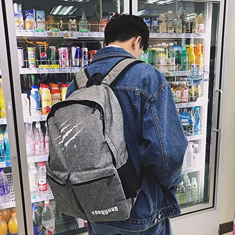 YZBB Schultasche männlicher Art und Weisetrend Juniormittelschüler Segeltuch-Schulterbeutel-Koreanische Version Harajuku BF Wind und Fahrttrend, der Rucksack verkratzt B07GNR36NL  Sehr gute Qualität